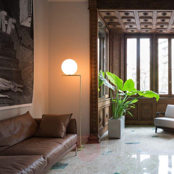 IC F2 Brass Floor Lamp by FLOS-Floor Lamps-3510298-30
