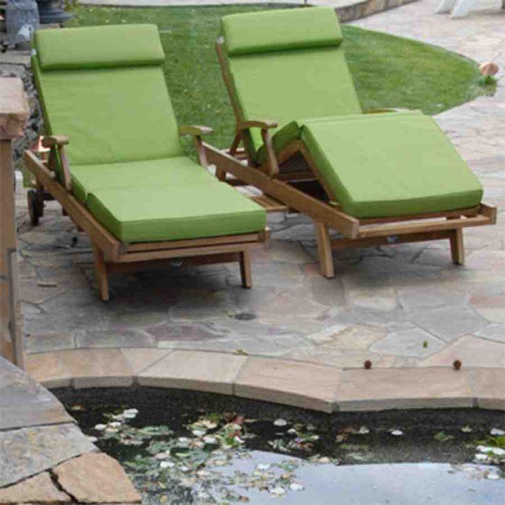 Teak Lounge Chair Cushions Outdoor Deep Seating Cushions