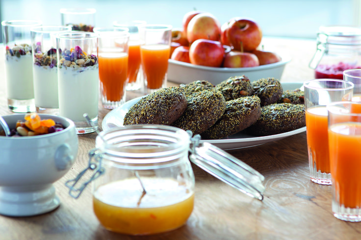 The Radisson Blu Super Breakfast is an extensive buffet featuring a range of food items selected from the best of Continental, North European, and American cuisine.