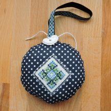 Green-blue mandala cross stitch hanging decor - DolceDecor home decoration