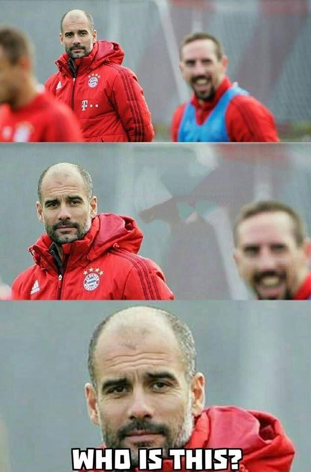 Trener Bayernu Monachium tak dawno nie widział Francka Ribery że go nie poznał • Josep Guardiola zastanawia się kim jest ten gość >> #ribery #guardiola #bayern #bayernmunich #football #soccer #sports #pilkanozna
