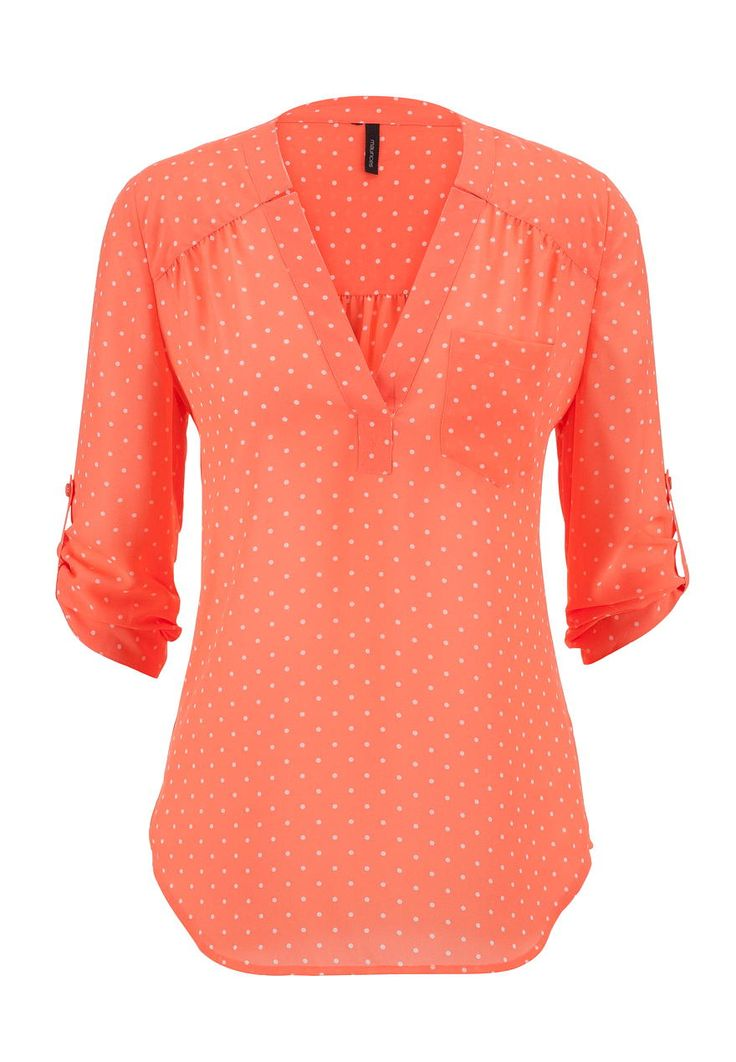 This top is very me.  dot print v-neck chiffon blouse - maurices.com