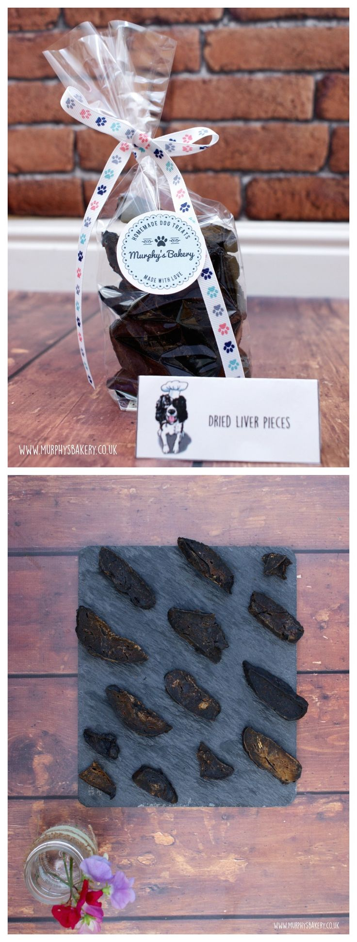 Murphy's Bakery slices of dried British beef liver. 100% natural and delicious! Have a look on our website for more details! #dogtreats #dogs #healthy #naturaldogtreats