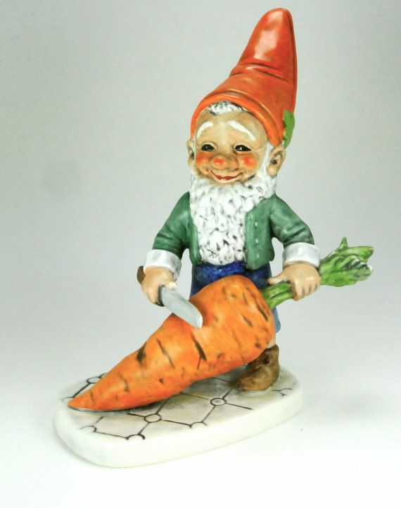 Robby Vegetarian Co Boy Elf Gnome Figurine By Pluckydotcollections