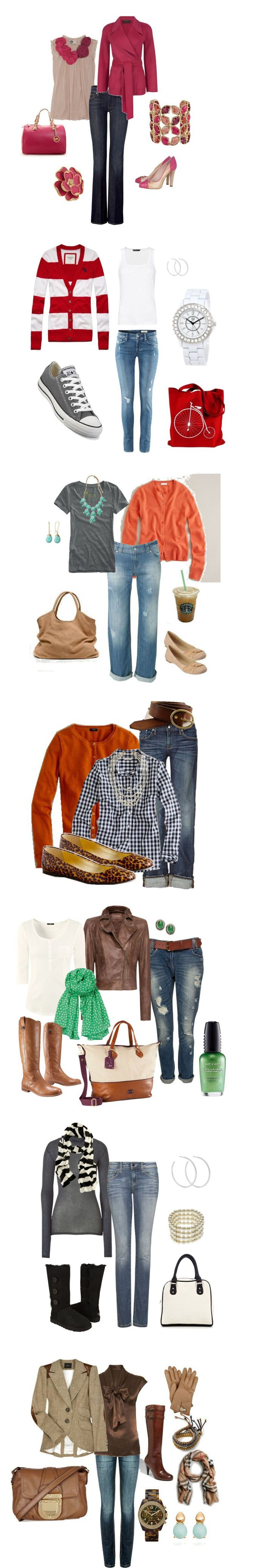 20 coloful fall fashions  All of them except for the soft black boots. They don't go very well.