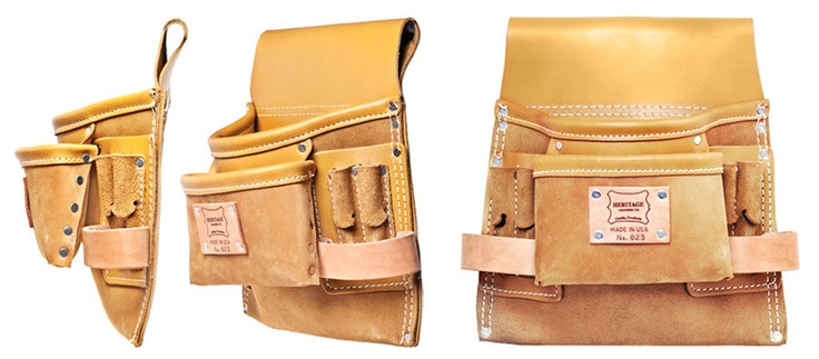 Leather Tool Belt Pouch - Kaufmann Mercantile