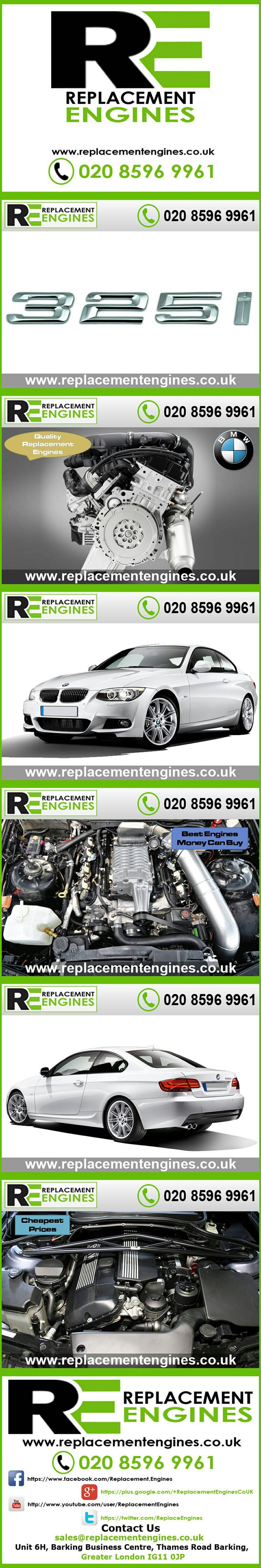 BMW 325i engines for sale at the cheapest prices, we have low mileage used & reconditioned engines in stock now, ready to be delivered to anywhere in the UK or overseas, visit Replacement Engines website here.