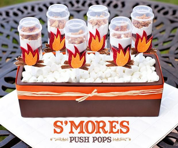 Hostess with the Mostess® - {Recipe & DIY Tutorial} Embellised S'mores Push Pops