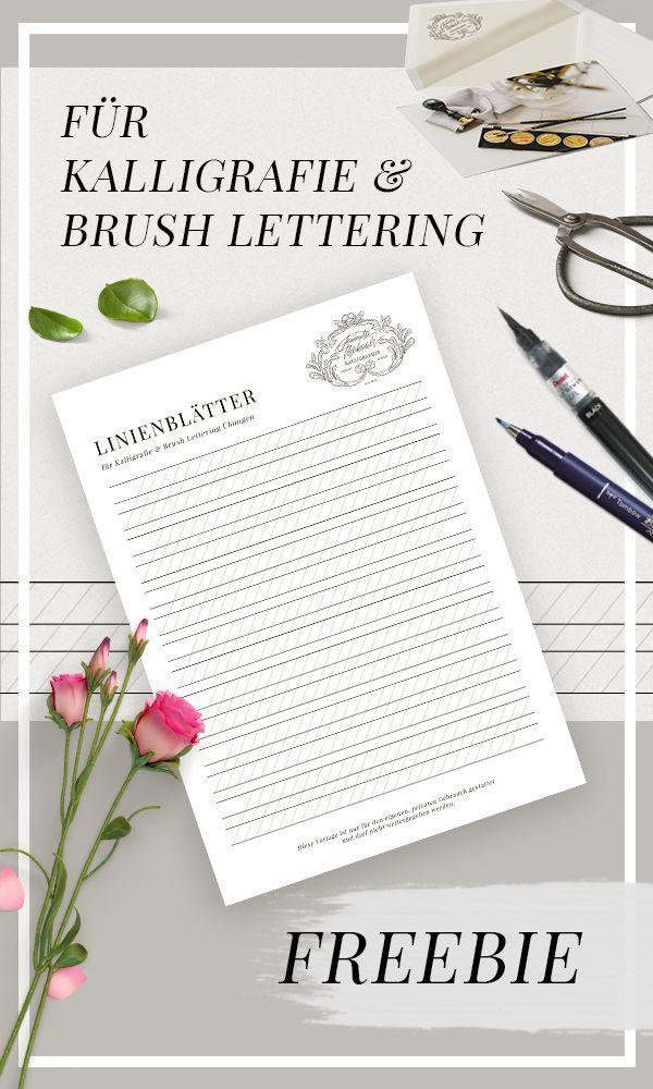 Ubungsblatter Fur Kalligraphie Hand Lettering Brush Lettering