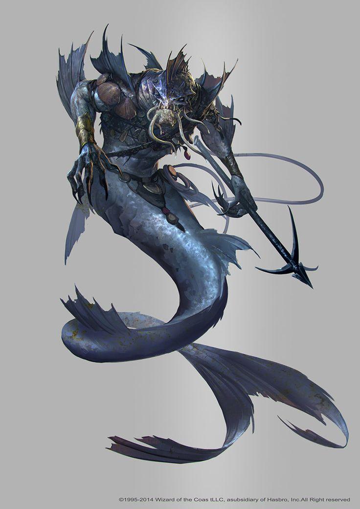 Triton- Teriomorfo- Hombre- Pez- Criatura- Monstruo- Fantacia