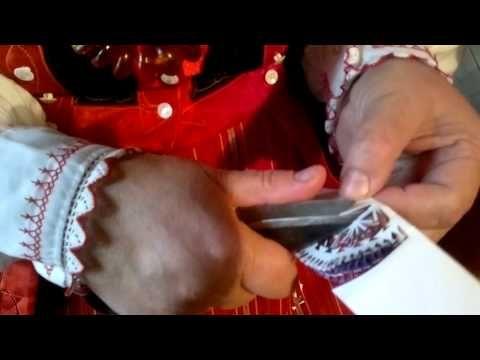 ▶ Jak wyciąć wycinankę kurpiowską leluję - folklor portal wiano.eu - YouTube