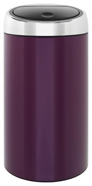 Brabantia Touch Bin® De Luxe, Violet Purple - modern - kitchen trash cans - Cutlery and Beyond