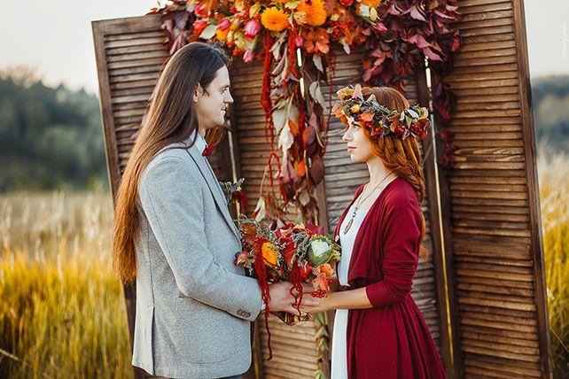 солнечная осенняя свадьба