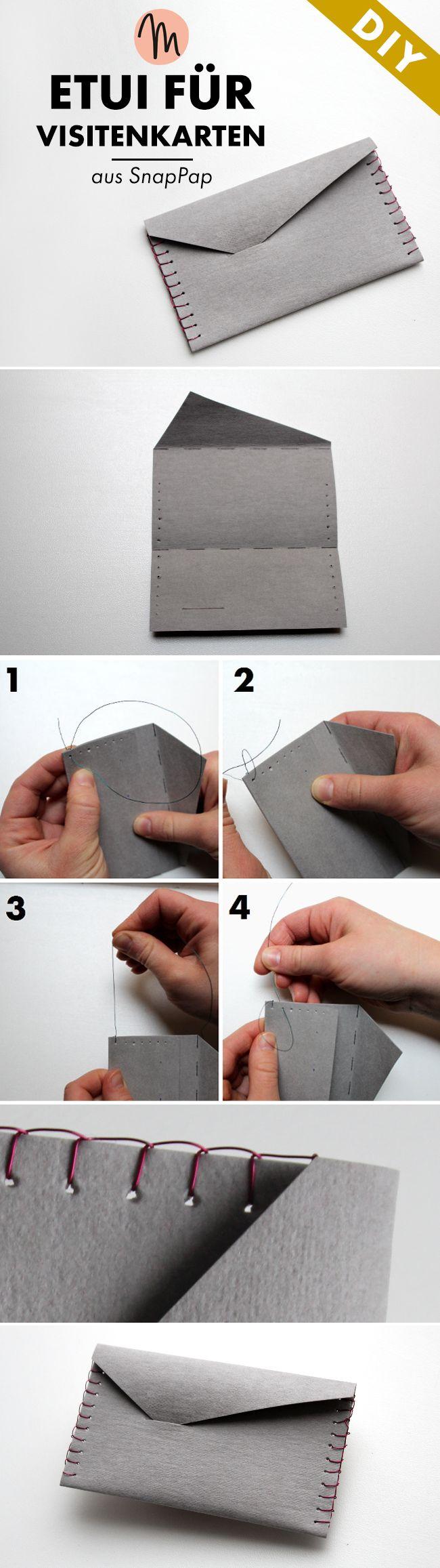 Super schnell und ein toller Hingucker ist dieses Etui für Visitenkarten - Anleitung im Blog von Makerist.de                                                                                                                                                     Mehr