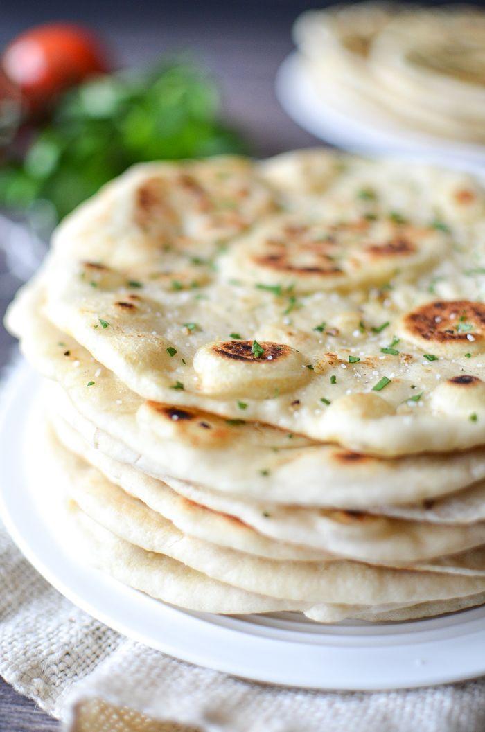 Garlic Vegan Naan Bread Recipe With Images Naan Bread Vegan