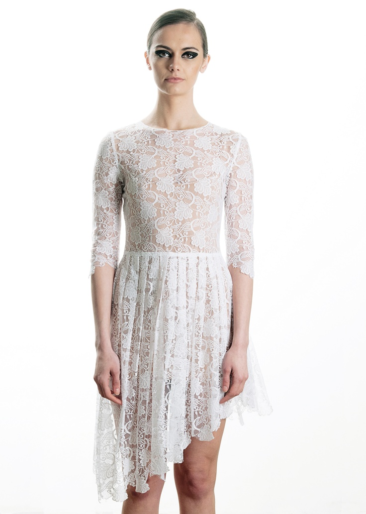 Assymetrical lace dress, spring / summer 2013  89€