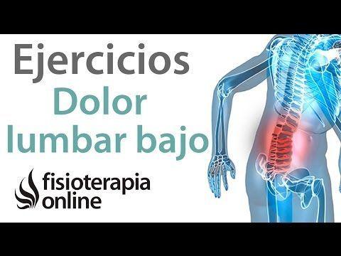 Dolor lumbar bajo o de cintura. Tratamiento con ejercicios, auto masajes y estiramientos - YouTube