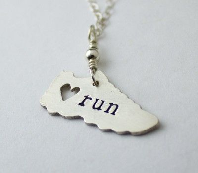 Show how much you love running even when you aren't wearing running clothes. How cute is this necklace?