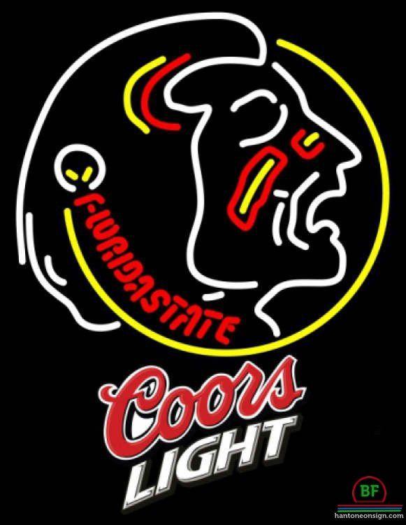 Coors Light Florida State University Florida State University Neon Sign NCAA Teams Neon Light