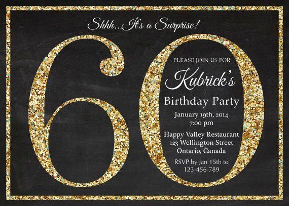 best 20+ 60th birthday invitations ideas on pinterest, Birthday invitations