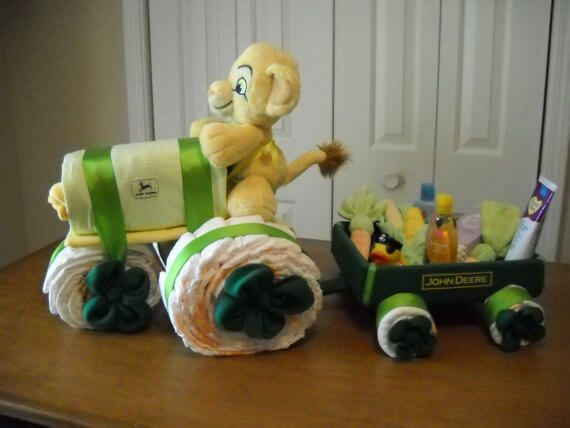 john deere tractor diaper cake for baby shower baby shower ideas