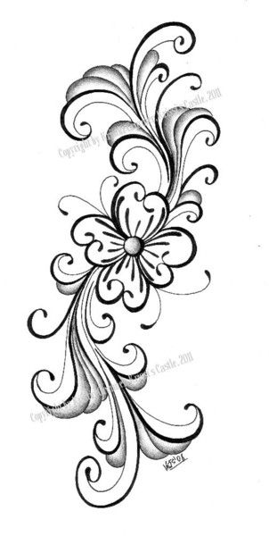 More rosemaling-inspired ideas - decal design to decorate the mid-arm machine