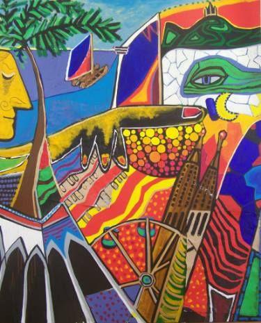 "Saatchi Art Artist Karlijn Surminski; Collage, ""Barcelona"" #art"
