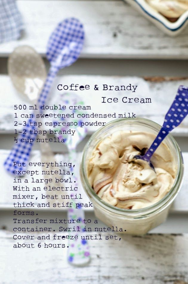 Louise´s Spis: Coffee and Brandy Ice Cream with Nutella Swirl