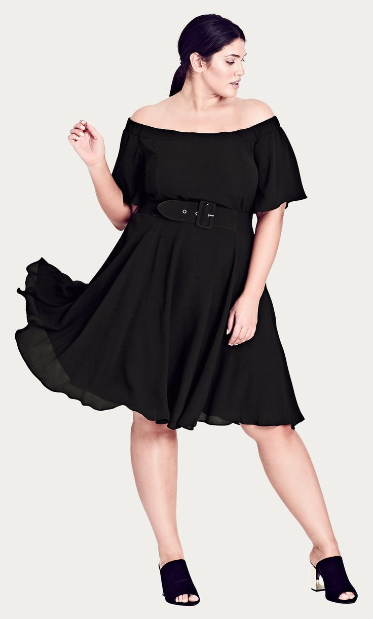Style By Trend: Electric Frills by City Chic - LADY VALERIE DRESS#citychic #citychiconline #curves #newarrivals #ootd #plussize #plussizefashion #psootd