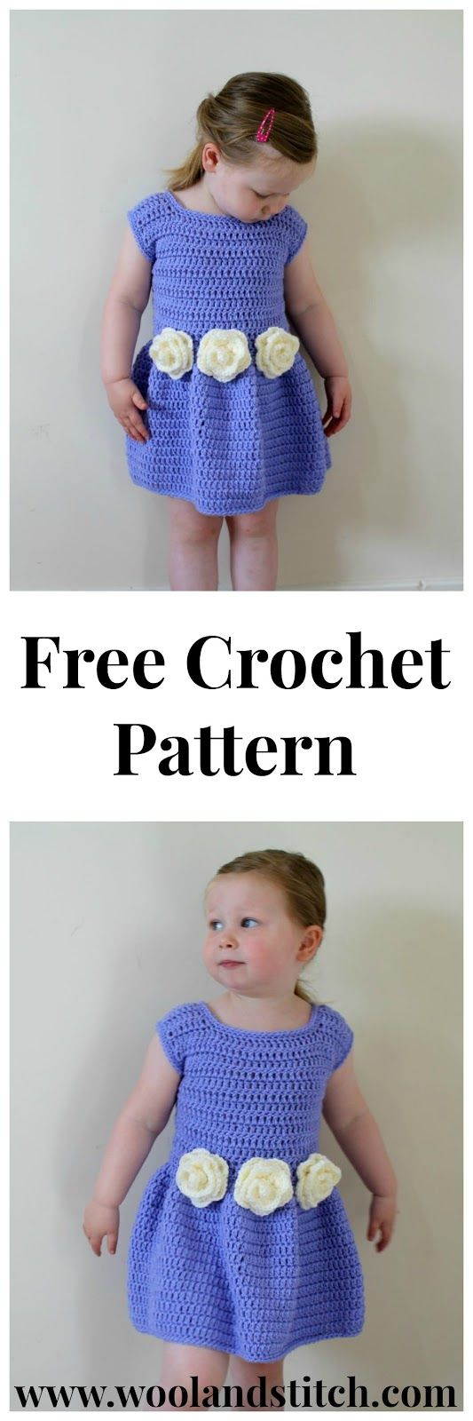 Crochet Pattern For Flower Girl Dress : 399 best images about Crochet Toddlers & Kids on Pinterest ...