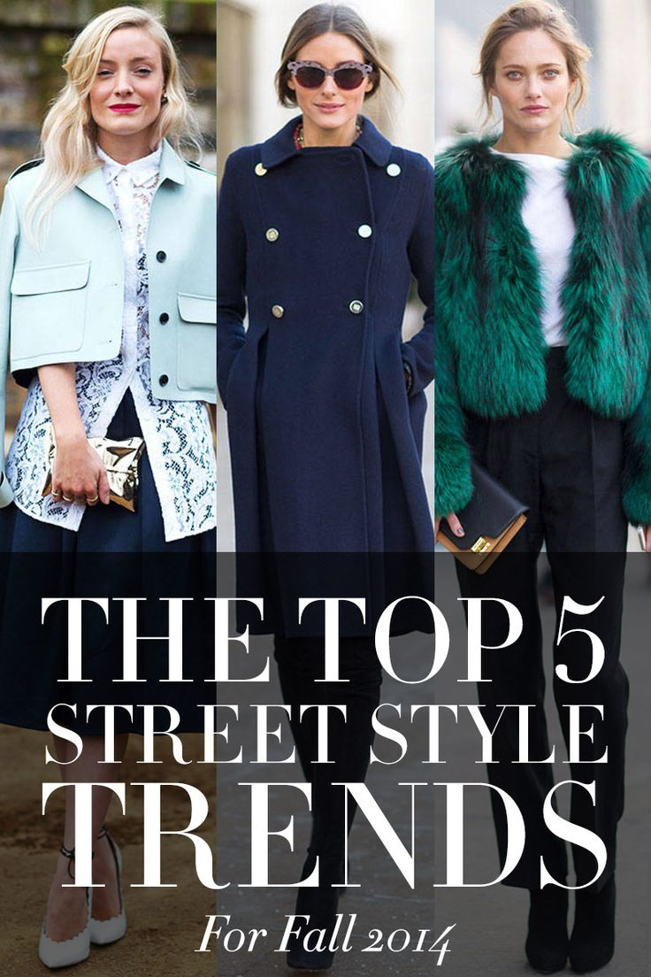 Stay up to pace with the 5 street style trends for Fall 2014. Click for more.