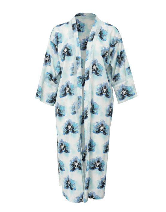 Blue Orchid Kimono