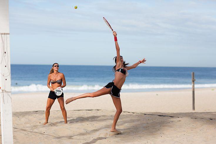 Beach Tennis, Rio de Janeiro   Getting fit is beautiful