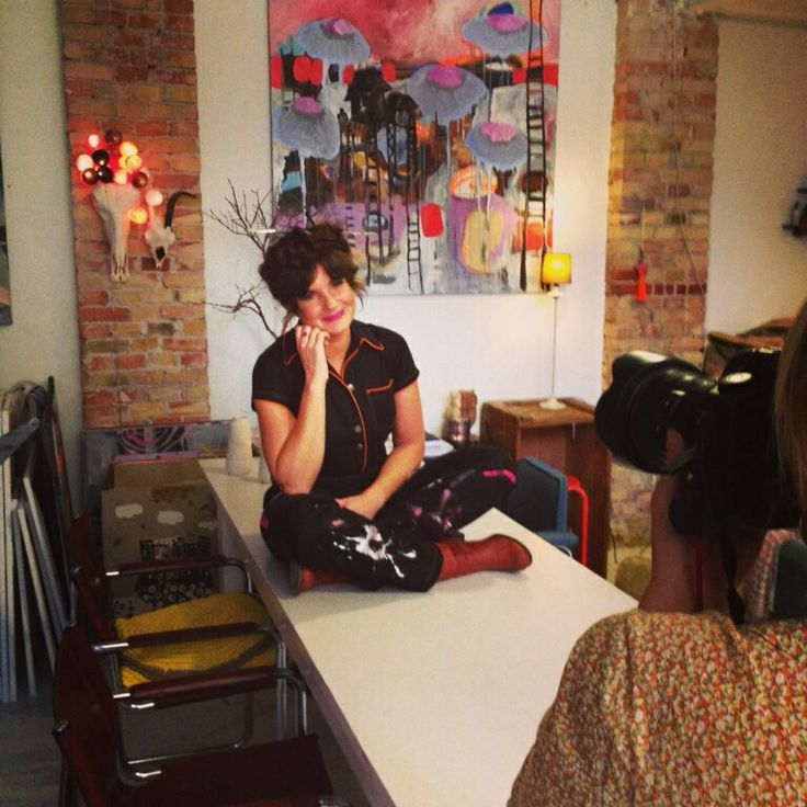 Me in my studio...