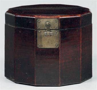 A Twelve-sided Wood Hat Box  Joseon dynasty (late 19th century)