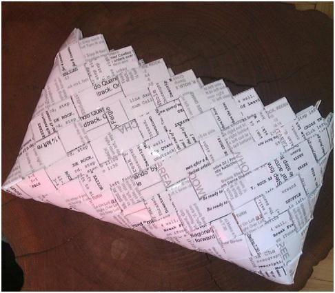 - ReCyklisten: Dansetasker  Flettet taske af stepsheets papir  Candywrapperpurse