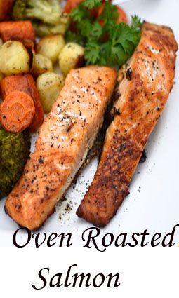 Here is an easy to make recipe that comes out beautifully.  Oven roasted salmon with baby potatoes and carrots. Broccoli florets can be added too.