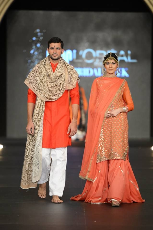 fashion show, looks like Indian clothing.
