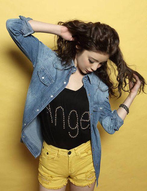Stylish New Simple Style Casual Denim Jacket _Wholesalekingdom.net