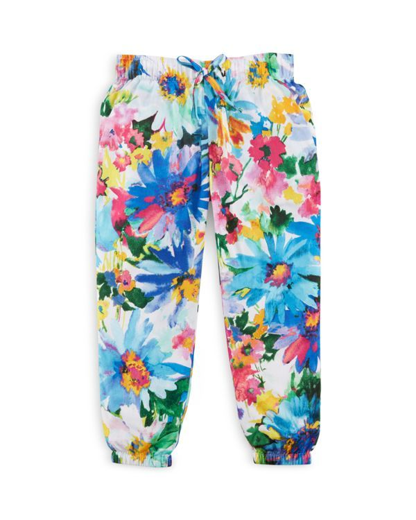 Ralph Lauren Girls' Floral Print Cotton Sateen Pants - Sizes 2-6X