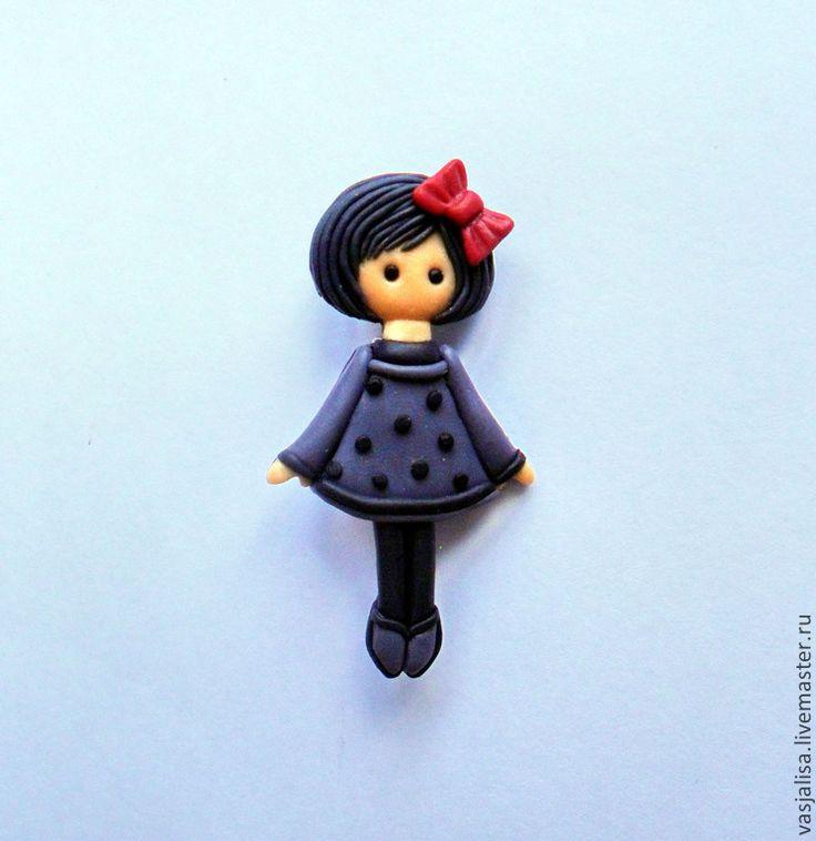 Купить Кукла брошка Ирма - кукла брошка, брошечка кукла, куколка брошка, брошь кукла