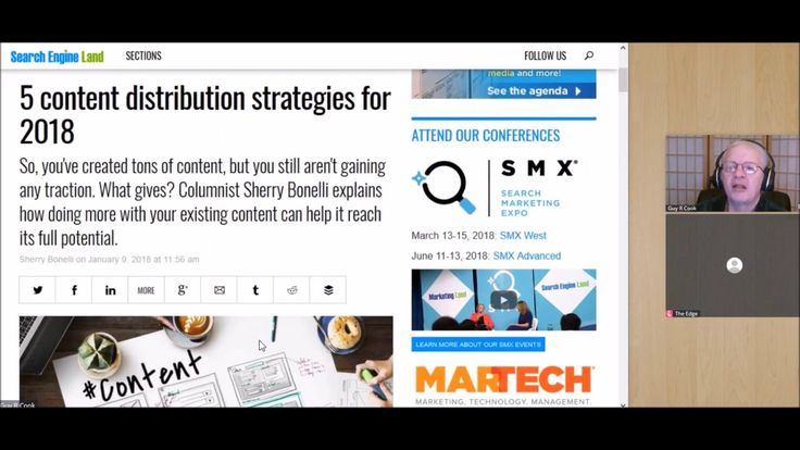 20180111 The Guy R Cook Report B2B Thursday shares the 5 content distribution strategies for 2018, a post by Columnist Sherry Bonelli the was in Search Engine Land
