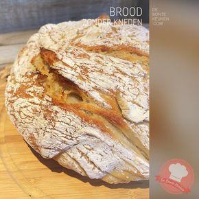 Brood zonder kneden. Niets is lekkerder dan zelf gebakken vers brood! Vaak in het veel werk om te maken, maar dit recept niet! Je hoeft het deeg namelijk niet te kneden. Het enige wat je nodig hebt is bloem, water, droge gist, zout, een grote gietijzeren stoofpan en een oven...