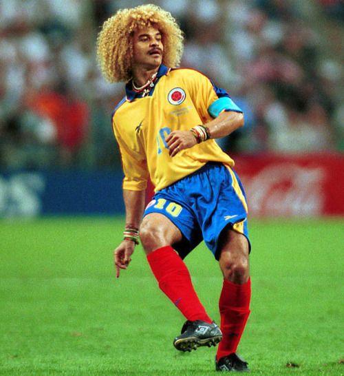 Carlos Valderrama from Colombia circa 1994