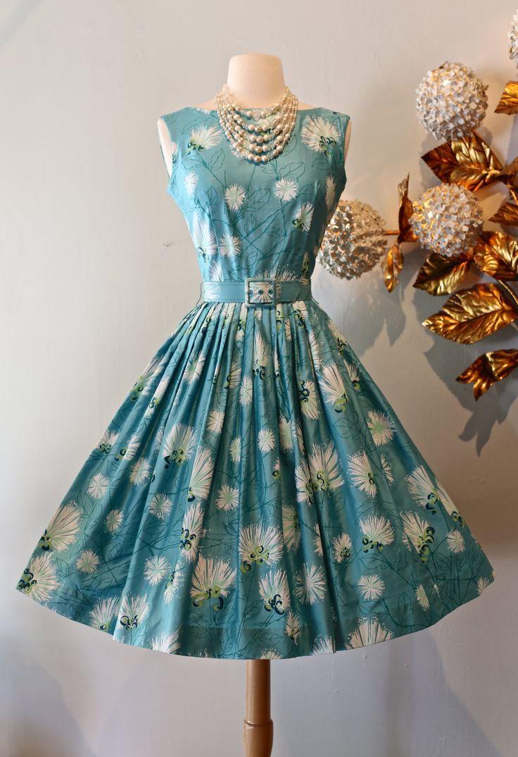Vintage 1950s Alfred Shaheen Hawaiian Dress ~ 1950s Hawaiian Dress by Alfred Shaheen BomBax Print NOS by xtabayvintage on Etsy