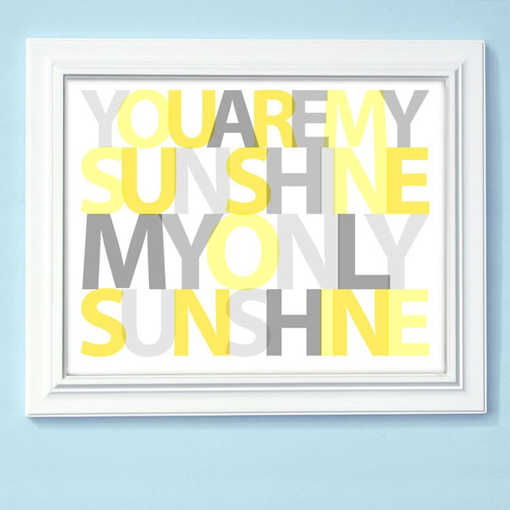 You Are My Sunshine Print Custom Colors 8x10 by AppleBlossomPrint, $20.00