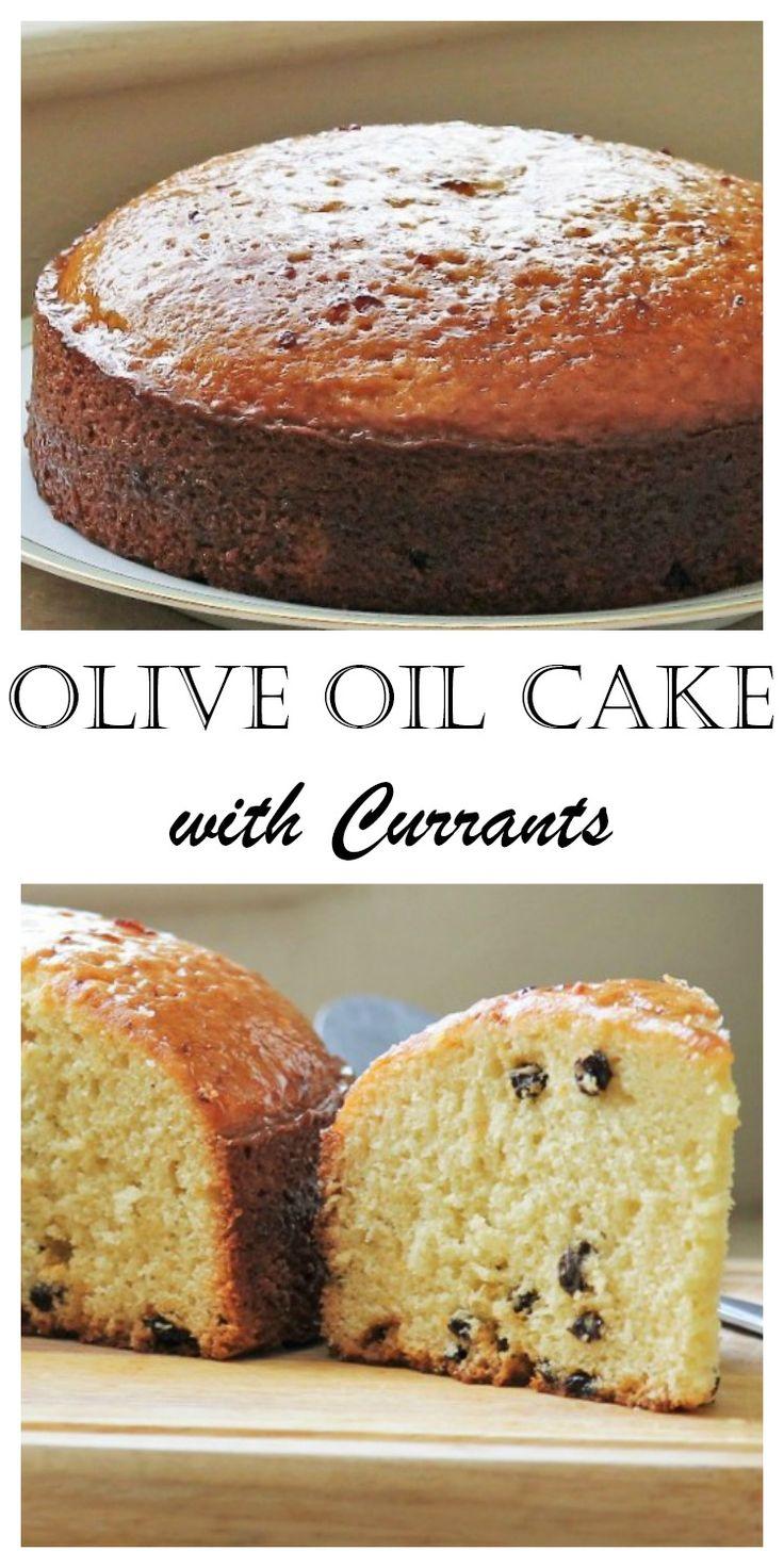 Olive Oil Cake with Currants and Plum Glaze MyRecipeReviews.com