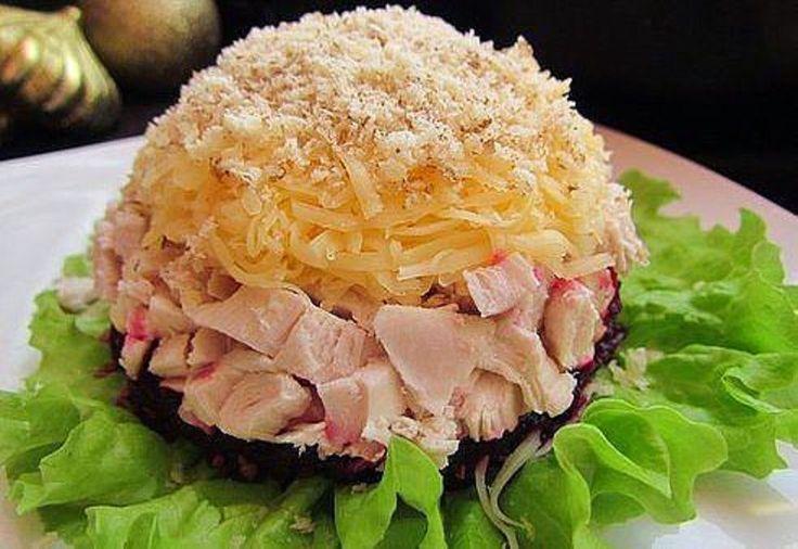 """Вкусная еда - кулинарные рецепты на каждый день!: Салат """"Кучеряшка"""""""