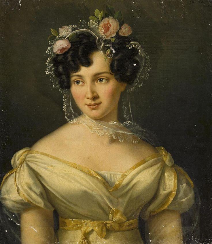 """Cheradame, Sofia Berto """"Portrait of Princess Евдокии Ивановны Голицыной, урождённой Измайловой"""" Russia, 1820г."""