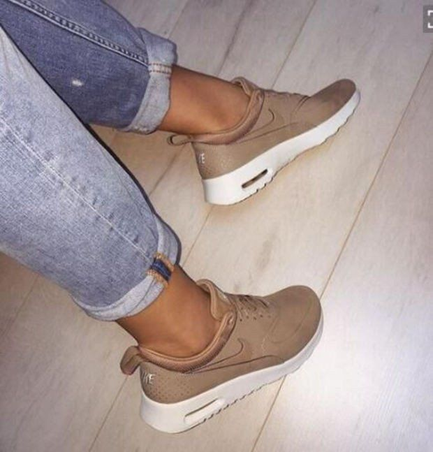 NIKE Women Men Running Sport Casual Shoes Sneakers Golden